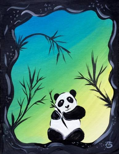 A Panda Cave paint nite project by Yaymaker