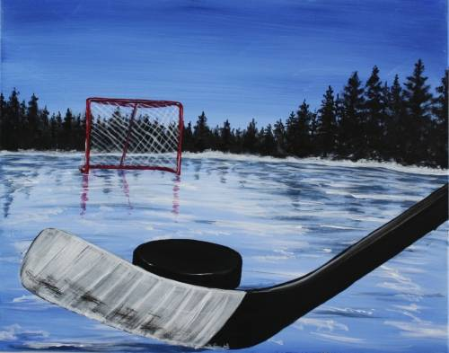 A Hockey  The Great Canadian Tradition paint nite project by Yaymaker