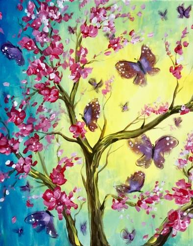A Magical Butterflies paint nite project by Yaymaker