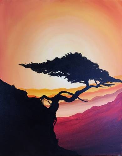 A Bonsai Serenity paint nite project by Yaymaker