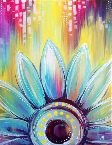 A Whimsical Daisy paint nite project by Yaymaker