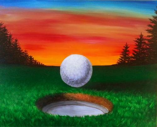 A The 18th Hole paint nite project by Yaymaker