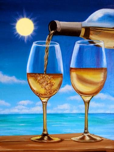 A A Romantic Toast on the Coast paint nite project by Yaymaker
