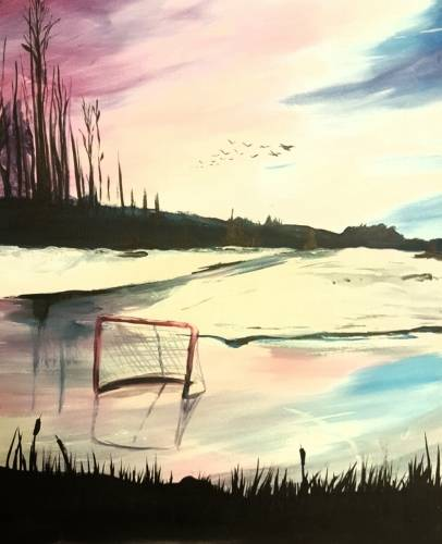 A Hockey Chill paint nite project by Yaymaker