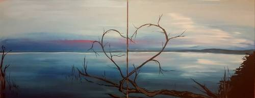 A Lovescape Partner Painting paint nite project by Yaymaker