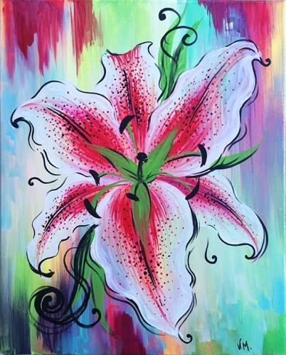 A Whimsical Tiger Lily paint nite project by Yaymaker