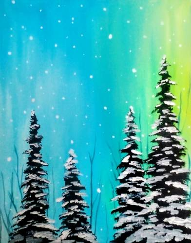 A Winter Snowfall paint nite project by Yaymaker