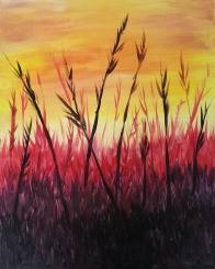 A Sunset Grass paint nite project by Yaymaker