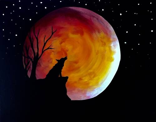 A The Howl of the Moon paint nite project by Yaymaker