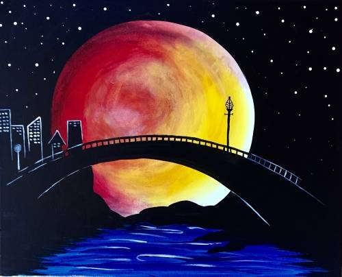 A Moon Lite City paint nite project by Yaymaker