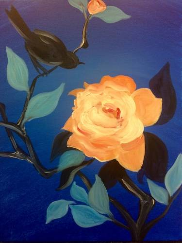 A Blackbird Bloom paint nite project by Yaymaker