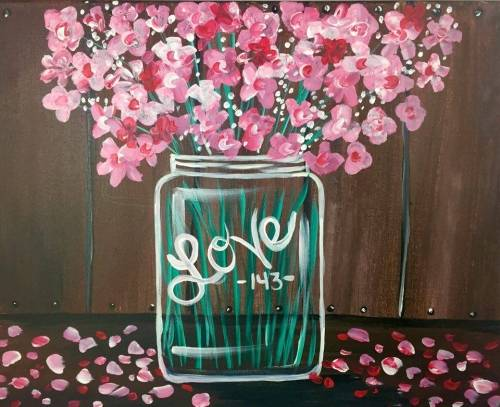 A Blossoms Of LOVE paint nite project by Yaymaker