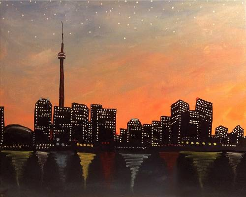 A Toronto After Sunset paint nite project by Yaymaker