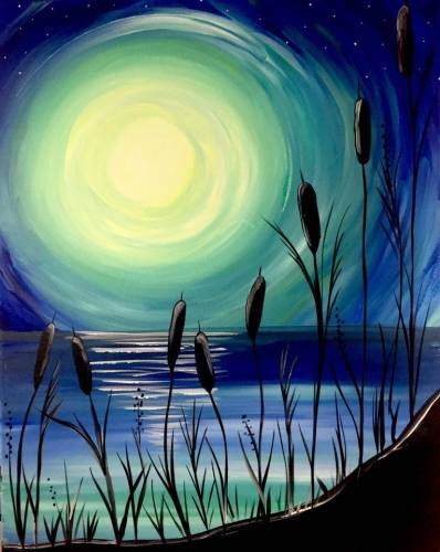 A Beach Moonlight paint nite project by Yaymaker