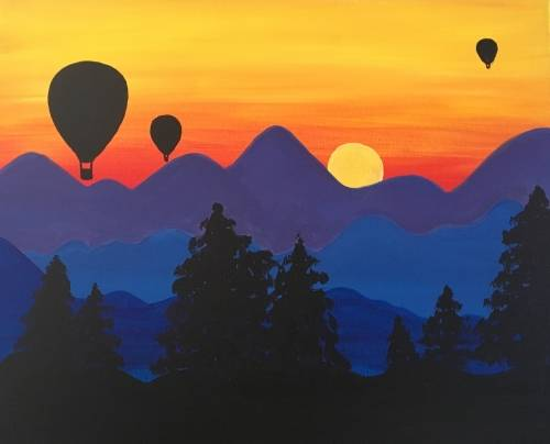 A Balloons on Sunday paint nite project by Yaymaker