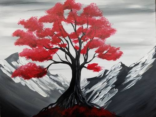 A Candy Apple Blossoms paint nite project by Yaymaker