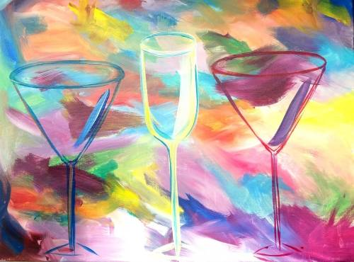 A Drinks on Me paint nite project by Yaymaker