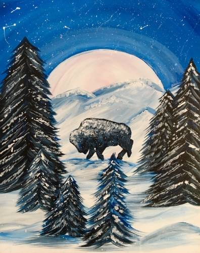 A Snowy Buffalo paint nite project by Yaymaker
