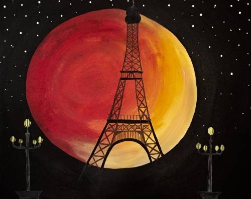 A Paris in the Moonlight paint nite project by Yaymaker
