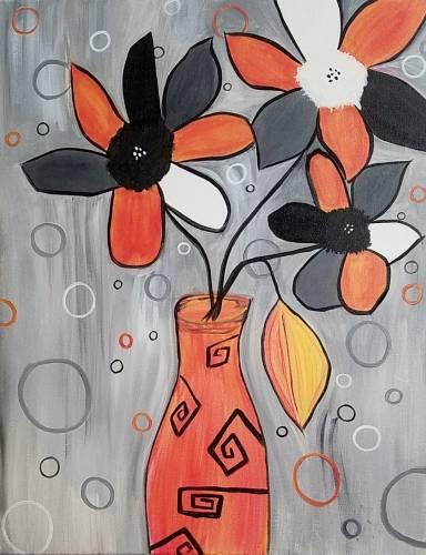A Groovy Flowers paint nite project by Yaymaker