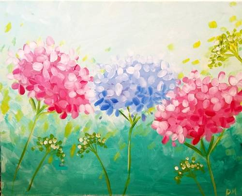 A Pretty Plumes paint nite project by Yaymaker