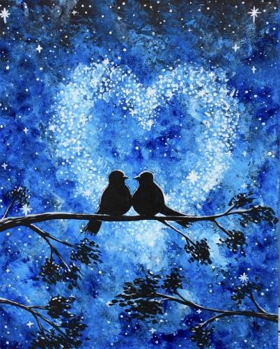 A Love in the Stars II paint nite project by Yaymaker