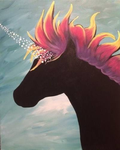 A Unicorn Dream paint nite project by Yaymaker