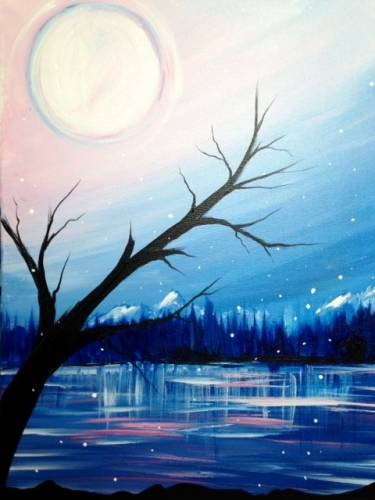 A Quiet Winter paint nite project by Yaymaker