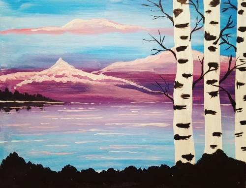 A Birch Beauty paint nite project by Yaymaker