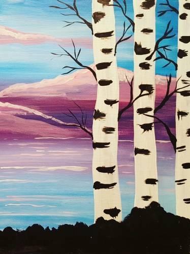 A Birch Beauty II paint nite project by Yaymaker
