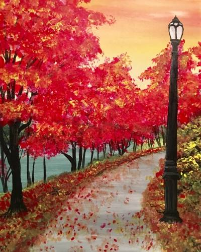 A Walk In The Park paint nite project by Yaymaker