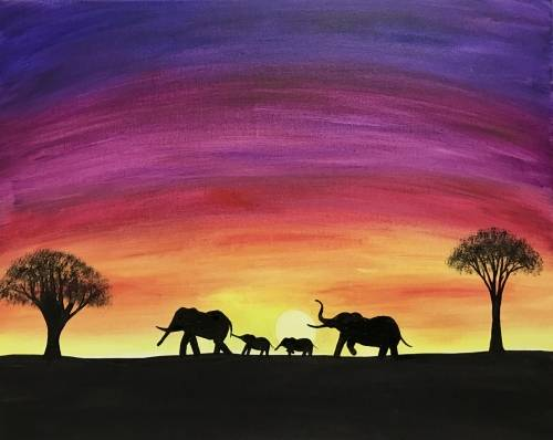 A Sunset Migration paint nite project by Yaymaker