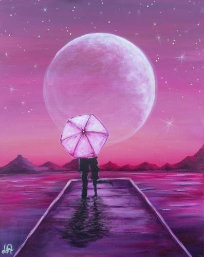A Love Under The Stars paint nite project by Yaymaker