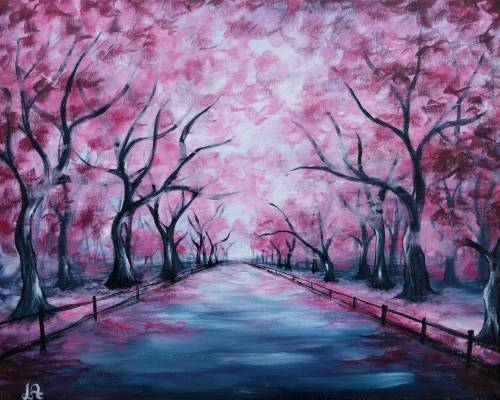 A Pink Park paint nite project by Yaymaker