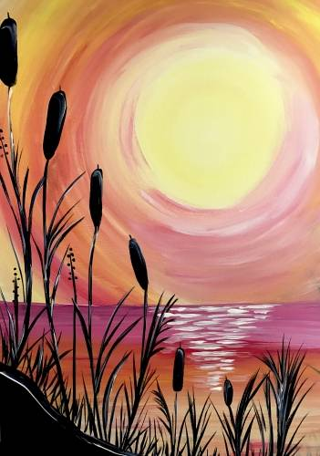 A Beach Sunset III paint nite project by Yaymaker