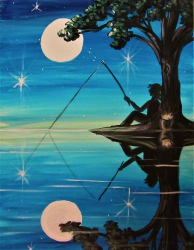 A When You Fish Upon A Star paint nite project by Yaymaker