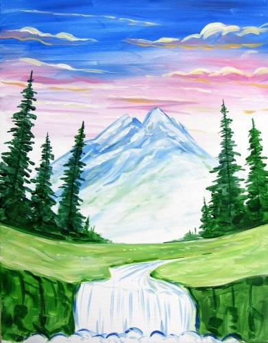 A My Happy Getaway paint nite project by Yaymaker