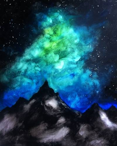 A Cosmic Sky paint nite project by Yaymaker