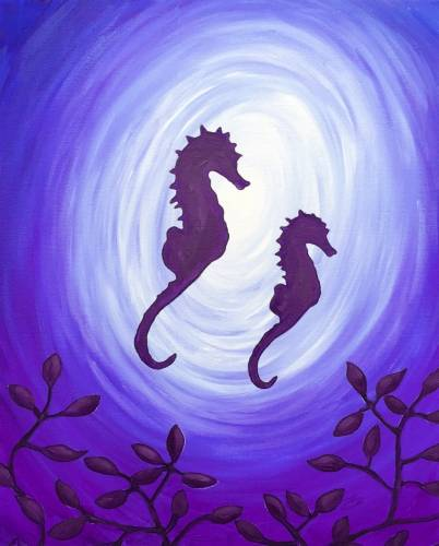A Seahorse Daydream paint nite project by Yaymaker
