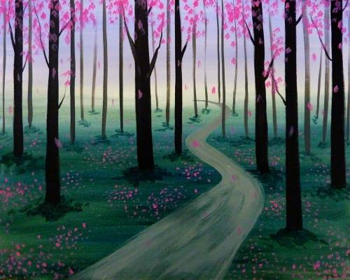 A Misty Path II paint nite project by Yaymaker
