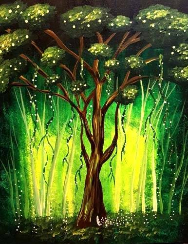 A Majestic Magical Oak Tree paint nite project by Yaymaker