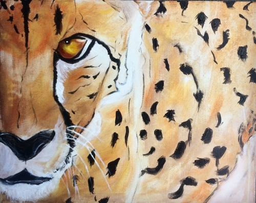 A Spotted by a Cheetah paint nite project by Yaymaker