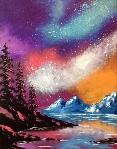A Galaxy Lake paint nite project by Yaymaker