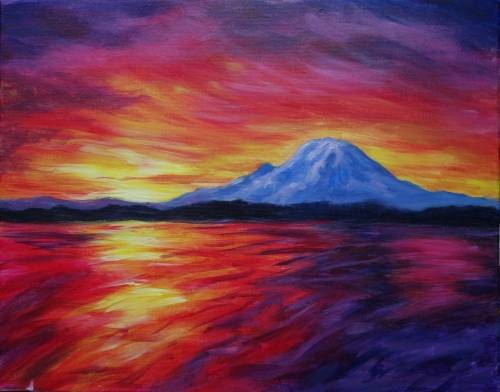 A Mount Rainier Magic paint nite project by Yaymaker