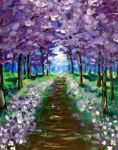 A Lilacs and Violets paint nite project by Yaymaker