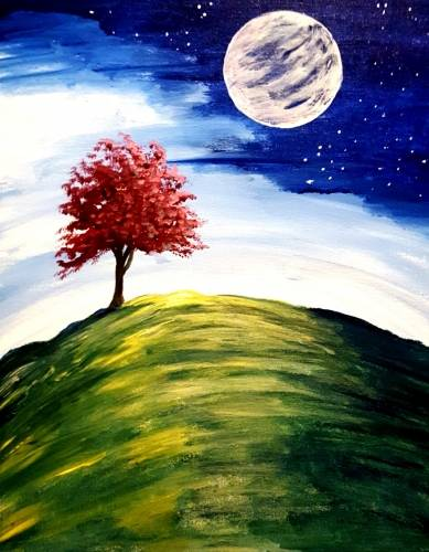 A Spring Moon paint nite project by Yaymaker