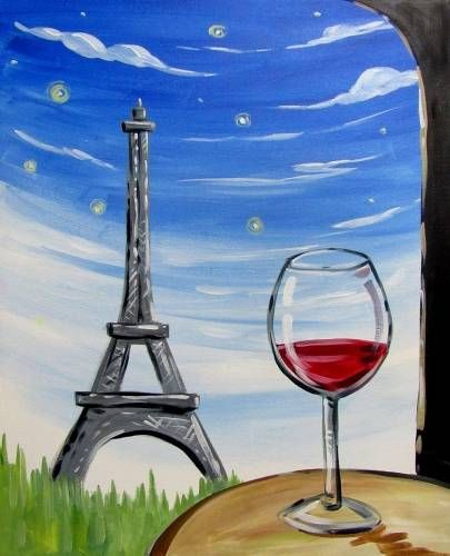 A Wine Not Paris paint nite project by Yaymaker