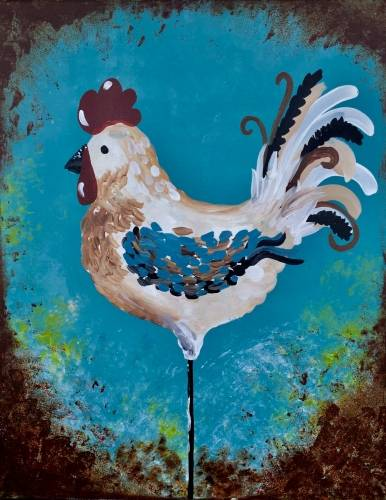 A Rooster Chic paint nite project by Yaymaker