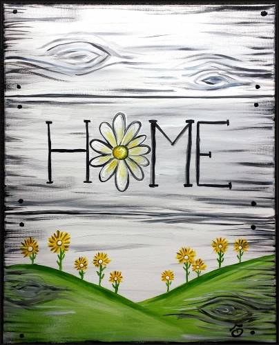 A Home Flower Sign paint nite project by Yaymaker