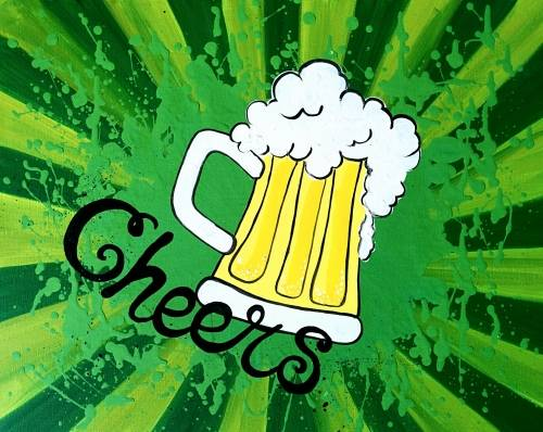 A Cheers to Beers paint nite project by Yaymaker
